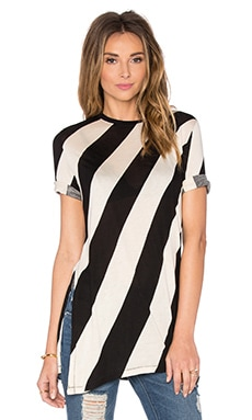 Cheap Monday Release Tee in Dia Stripe