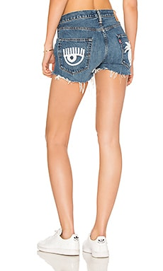 X REVOLVE Denim Shorts in Light Blue