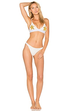X REVOLVE Sequin Bikini in White