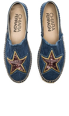 Chiara Ferragni Star Espadrille in Denim