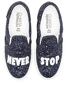 Chiara Ferragni Never Stop Slip-On Sneaker in Navy