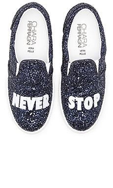 Chiara Ferragni Never Stop Slip-On Sneaker in Navy
