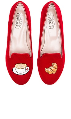 Chiara Ferragni Italian Breakfast Flat in Red