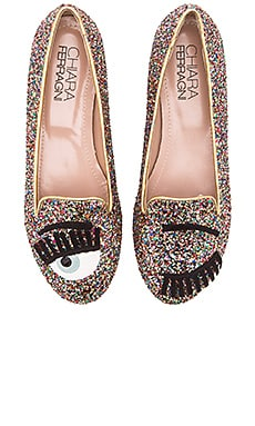 Chiara Ferragni Flirting Flat in Multi
