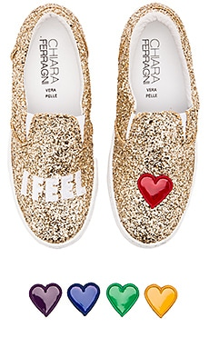 Chiara Ferragni I Feel Slip-On Sneaker in Gold