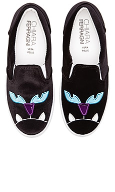 Chiara Ferragni Monsters Slip-On Sneaker in Black