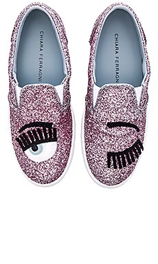 Chiara Ferragni Flirting Slip On Sneaker in Rose