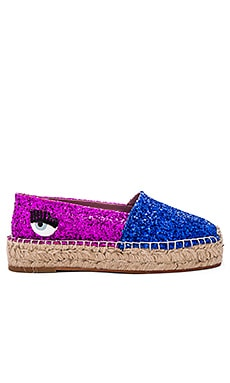 Two Tone Espadrille in Blue & Fuchsia