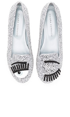 Chiara Ferragni Flirting Sleeper Loafer in Silver