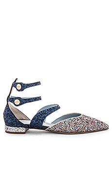 Pointy Ankle Sandal in Multi & Blue