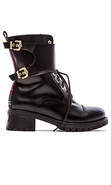 Chiara Ferragni Combat Boot in Black