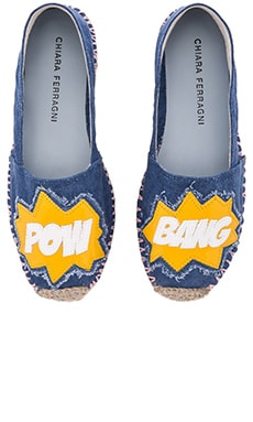 Chiara Ferragni Bang Espadrilles in Dark Denim