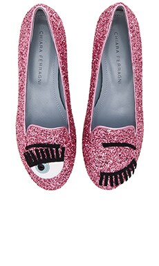 Chiara Ferragni Flirting Sleeper Loafer in Fuchsia