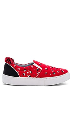 Bandana Slip-On Sneaker in Red