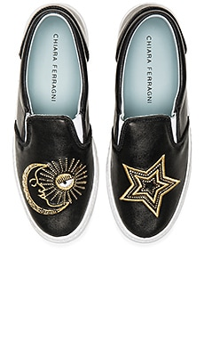 Starry Slip On Sneaker in Schwarz