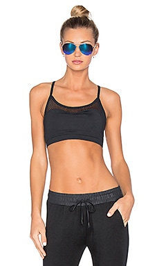 CHICHI Halle Mesh Panel Sport Bra in Black