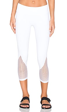 CHICHI Demi Mesh Panel Capri in White