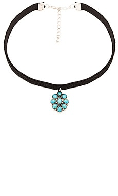 Child of Wild Electric Daze Navajo Choker in Turquoise