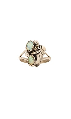 Child of Wild Nacre Navajo ring in Opal