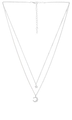 Ethereal Light Layered Necklace in Rhodium