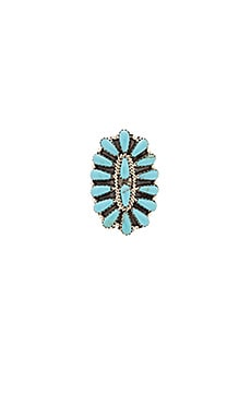 Child of Wild Desert Hills Navajo Ring in Turquoise