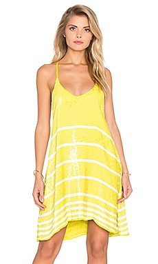 Chloe Oliver Sequins For Breakfast Swing Dress in Citron