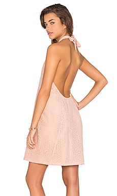Pretty In Pink Mini Dress in Nude