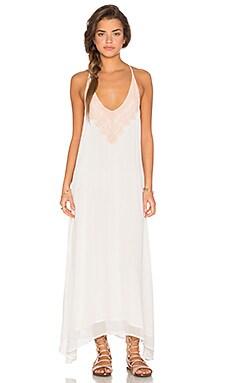 Chloe Oliver Neptune's Net Maxi Dress in White & Blush