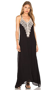 Chloe Oliver Brazilian Night Dress in Black & Blush