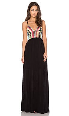 Chloe Oliver Wish you Were Here Dress in Black & Multi
