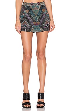 Chloe Oliver Ventana Mini Skirt in Black Multi