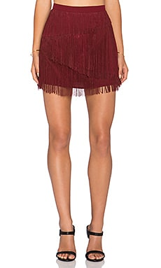 Chloe Oliver Give Me a Beat Back Mini Skirt in Brick