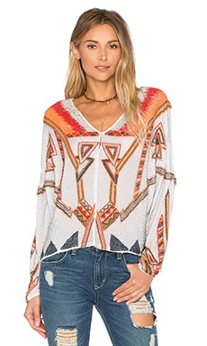 Havana Nights Top in White & Multi