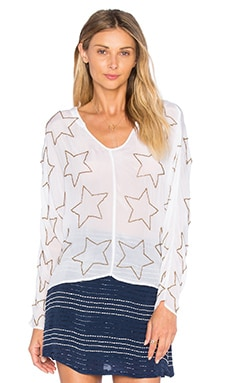 Chloe Oliver Americana Top in White