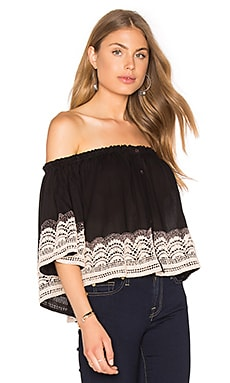 Chloe Oliver Brazilian Night Top in Black & Blush