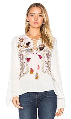 Winter Garden Top in Ivory