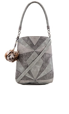 Whitney Shoulder Bag en Imprimé Gris