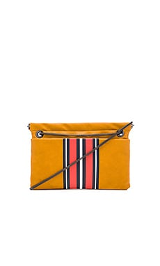 Ferlin Shoulder Bag em Cognac & Racer Stripe