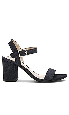 Ashton Heel in Dark Navy Denim