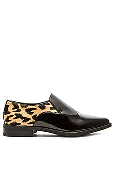 Circus by Sam Edelman Farrah Calf Hair Loafer in Leopard Patent