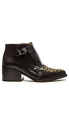 Circus by Sam Edelman Reese Calf Hair Bootie in Black & Brown Black