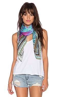 Camilla Large Square Scarf in Tides of Aurora
