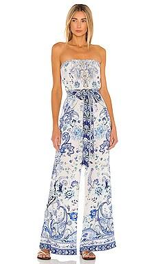 Tie Waist Strapless Jumpsuit Camilla $649