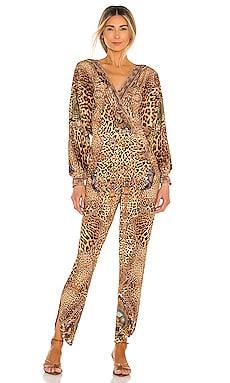 Jersey Twist Front Jumpsuit Camilla $420