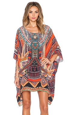 Camilla Short Round Neck Kaftan in Dance of the Dao