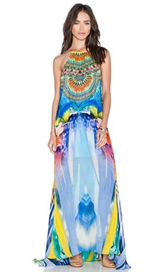 Camilla Sheer Overlay Dress in The Rites of Tropicana