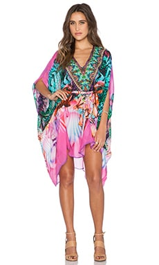 Camilla Short Sheer Belted Kaftan in Awakened Utopia