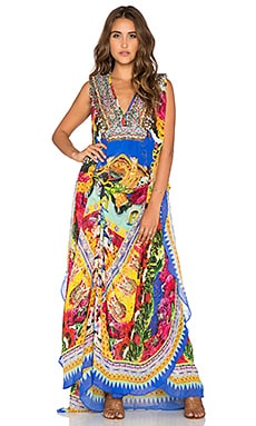 Camilla Waist Tab Maxi Caftan in Flower of 400 Lives