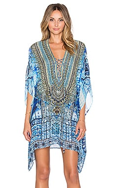 Camilla Lace Up Mini Caftan in Power of Prayer