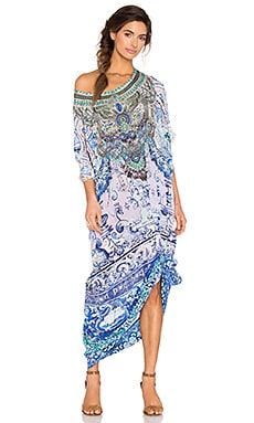 Camilla Round Neck Caftan in Temptress of The Deep